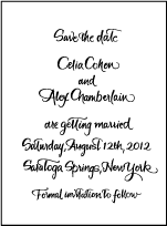 Modern Calligraphy Letterpress Save The Date Design Small