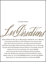 Modern Chateau Letterpress Direction Design Small