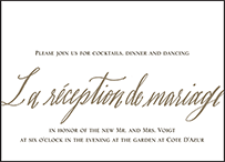Modern Chateau Letterpress Reception Design Small