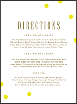 Modern Dot Letterpress Direction Design Small