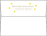 Modern Dot Letterpress Envelope Design Small