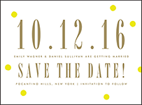 Modern Dot Letterpress Save The Date Design Small