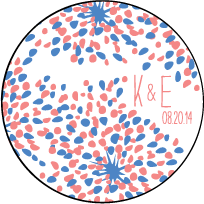 Modern Fete Letterpress Coaster Design Small