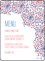 Modern Fete Letterpress Menu Design Small