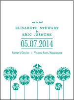 Modern Garden Letterpress Save The Date Design Small