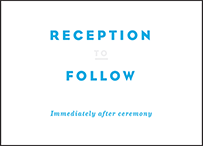 Modern Literate Letterpress Reception Design Small