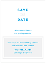 Modern Literate Letterpress Save The Date Design Small