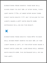 Modern Starlight Letterpress Direction Design Small