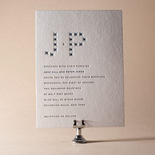 Modern Starlight Letterpress Invitation Design Small