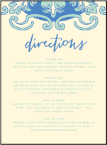 Modern World Letterpress Direction Design Small