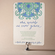 Modern World Letterpress Invitation Design Small