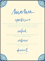 Modern World Letterpress Menu Design Small