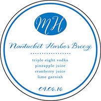 Montauk Letterpress Coaster Design Small