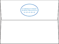 Montauk Letterpress Envelope Design Small