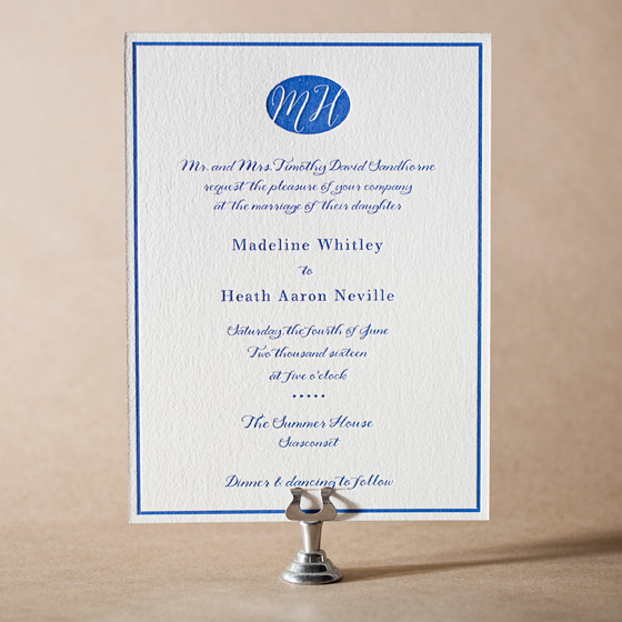Montauk Letterpress Invitation Design Small