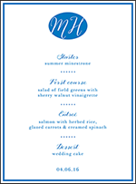 Montauk Letterpress Menu Design Small