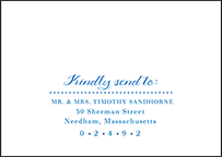 Montauk Letterpress Reply Envelope Design Small
