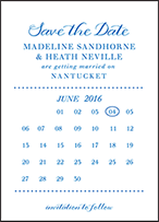 Montauk Letterpress Save The Date Design Small