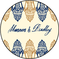 Moroccan Romantic Letterpress Coaster Design Small