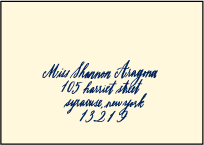 Moroccan Romantic Letterpress Reply Envelope Design Small