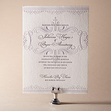 Nantucket Letterpress Invitation Design Small