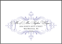 Nantucket Letterpress Reply Envelope Design Small