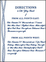 Nautical Classic Letterpress Direction Design Small