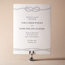 Nautical Classic Letterpress Invitation Design Small