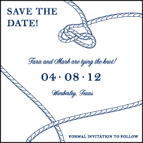 Nautical Classic Letterpress Save The Date Design Small