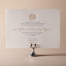 Nautilus Letterpress Invitation Design Small