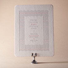 Neo Luna Letterpress Invitation Design Small