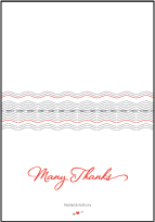 Neo Luna Letterpress Thank You Card Fold Design Small