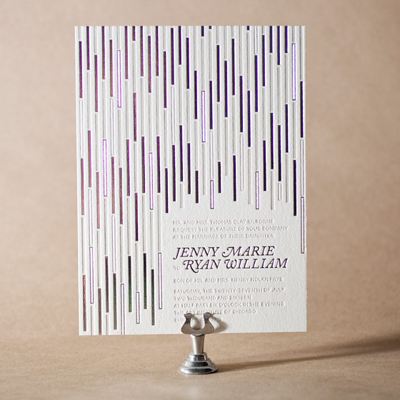 Neros Letterpress Invitation Design Small