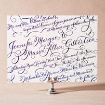 New Calligraphy Letterpress Invitation Design Small