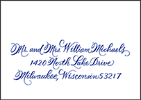 New Calligraphy Letterpress Reply Envelope Design Small