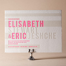 New Horizon Letterpress Invitation Design Small
