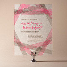 New Washi Letterpress Invitation Design Small