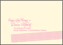 New Washi Letterpress Reply Envelope Design Small