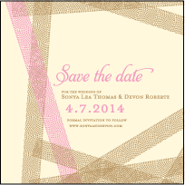 New Washi Letterpress Save The Date Design Small