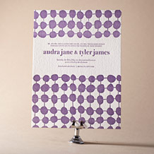 Nola Dots Letterpress Invitation Design Small