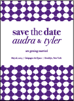 Nola Dots Letterpress Save The Date Design Small