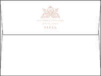 Nouveau Letterpress Envelope Design Small