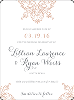 Nouveau Letterpress Save The Date Design Small