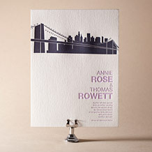 NYC Modern Letterpress Invitation Design Small
