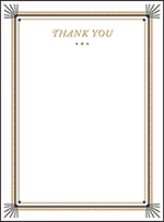 Odeon Letterpress Thank You Card Flat Design Small
