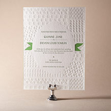 Organic Letterpress Invitation Design Small