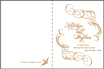Ornate Flourish Letterpress Program Design Small