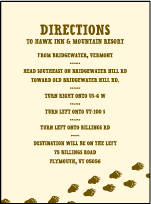 Overlook Letterpress Direction Design Small