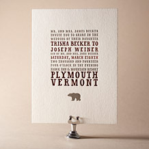 Overlook Letterpress Invitation Design Small