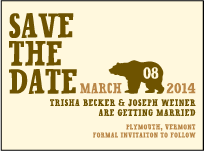 Overlook Letterpress Save The Date Design Small